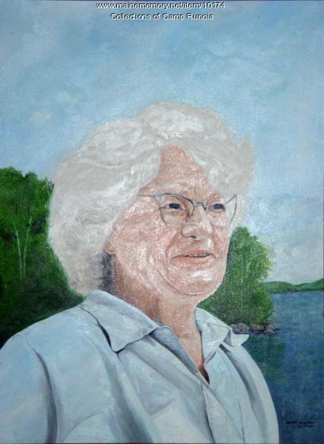 Marian Johnson portrait, Camp Runoia, Belgrade lakes