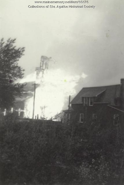 Ste. Agathe Catholic Church burning, St Agatha, 1940