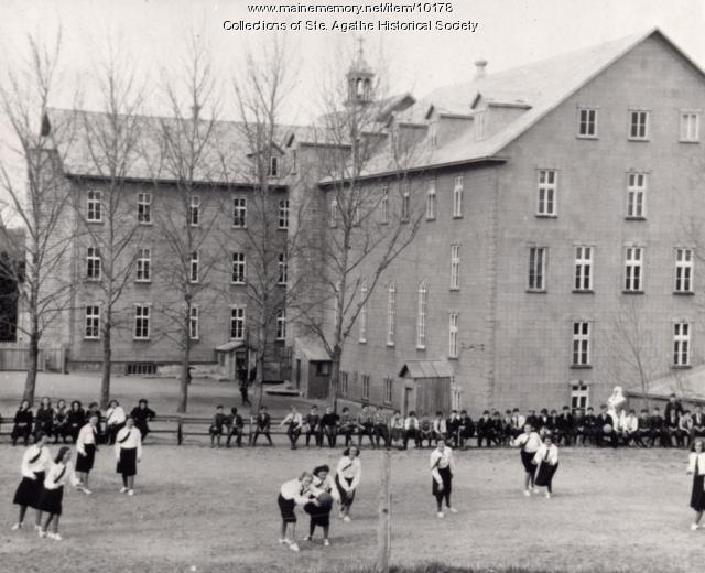 Notre Dame de la Sagesse convent and school, St. Agatha, ca. 1940