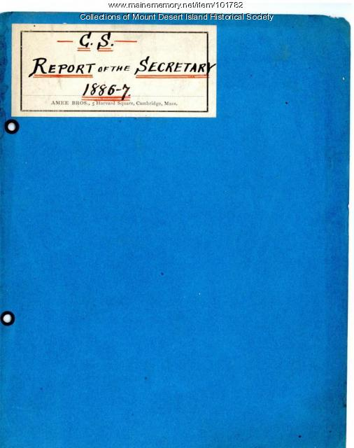 Champlain Society Report of the Secretary, Cambridge, Massachusetts, 1886-87