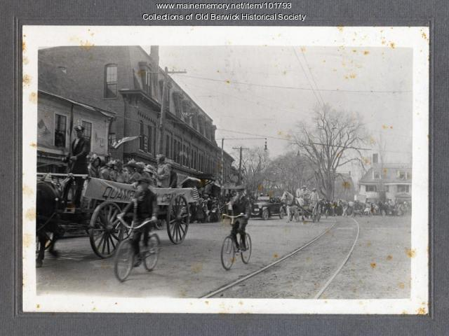 WWI preparedness parade, South Berwick, 1917