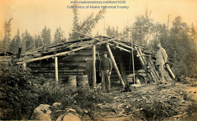 Logging Camp, Upper Falls of Socatean River,  1888