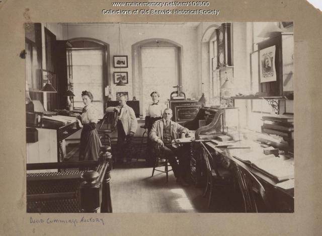 Clerks at the David Cummings Factory, South Berwick, ca. 1900