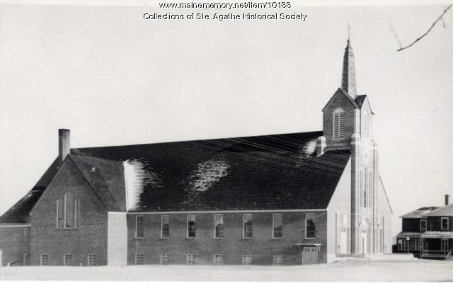St. Agatha Catholic Church and Rectory, St. Agatha, ca. 1941