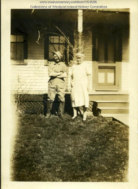 Freeman and Annie Colby, Westport Island, ca. 1930