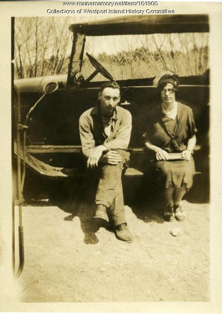 Ellsworth and Francena Colby, Westport Island, ca. 1930