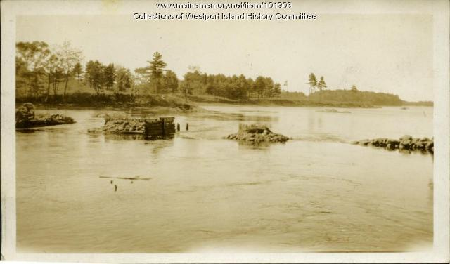 Remains of Westport to Woolwich Bridge, ca. 1930