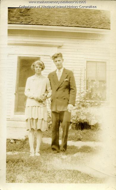 Edwin and Jennie Cromwell, Westport Island, 1930