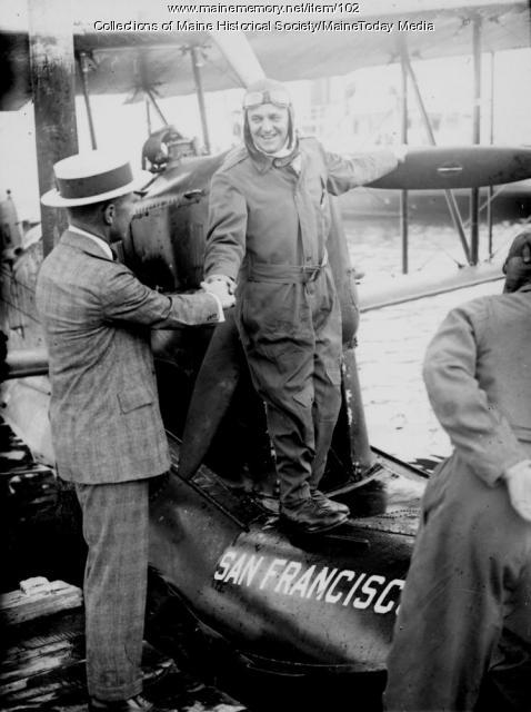Biplane 'San Francisco,' Old Orchard Beach, ca. 1923