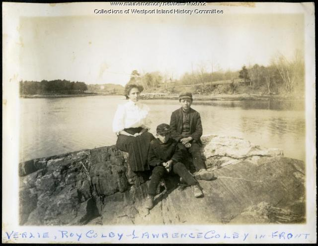 Colby family, Westport Island, ca. 1907