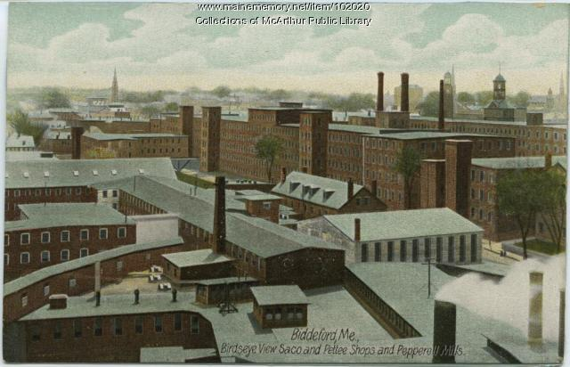 Saco and Pettee Shops and Pepperell Mills, Biddeford, ca. 1910
