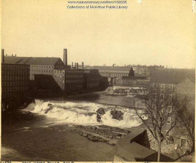 Textile industry companies on the falls, Biddeford and Saco, 1890