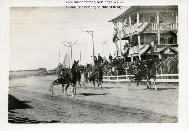 Harness racing at the Bass Park, Bangor, ca. 1915