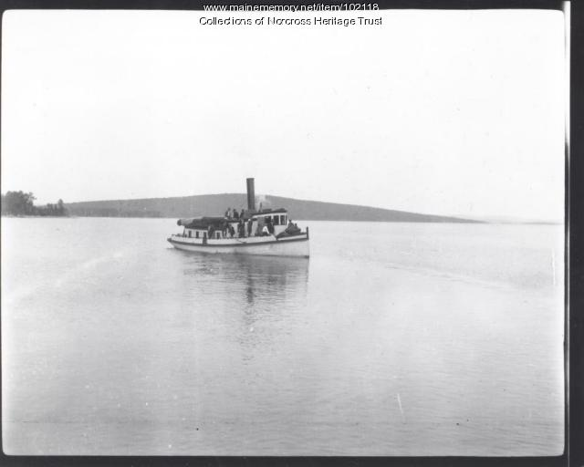"Steamboat ""Rainbow"", North Twin Lake, ca. 1905"