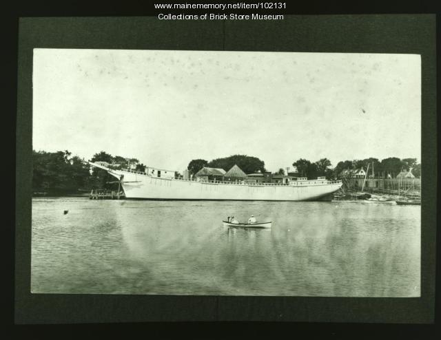 Launching Schooner Kennebunk, July 10 1918, Kennebunkport