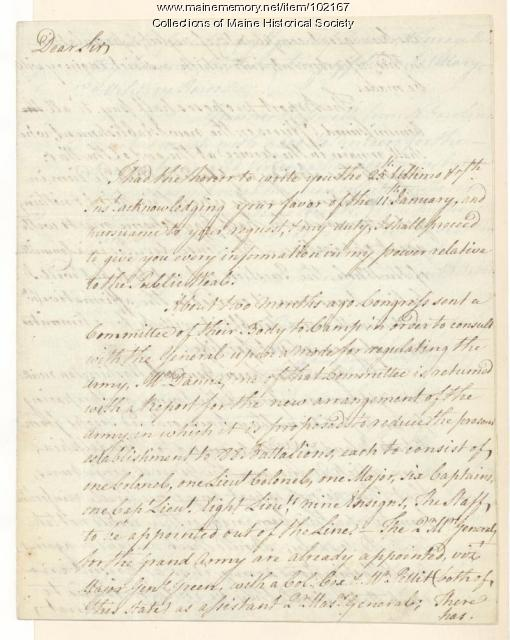 Francis Lewis on the actions of the militia relayed to Congress, Yorktown, 1778