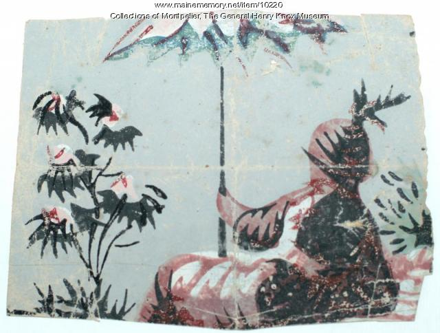Wallpaper Fragment, ca. 1795