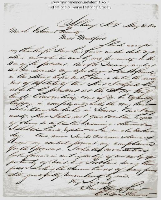 Letter from C. Lenox Remond to Elizabeth Mountfort, May 30, 1850
