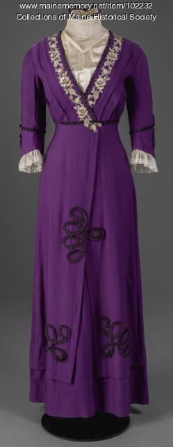 Dress made by Martha Willey Riley, Cherryfield, ca. 1912