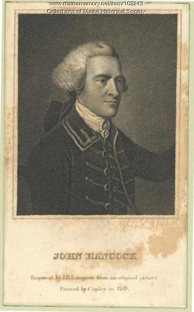 Portrait of John Hancock, 1765