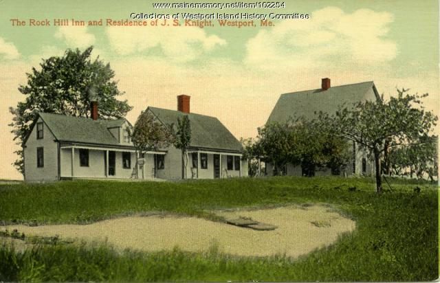 The Rock Hill Inn, Westport Island, ca. 1908