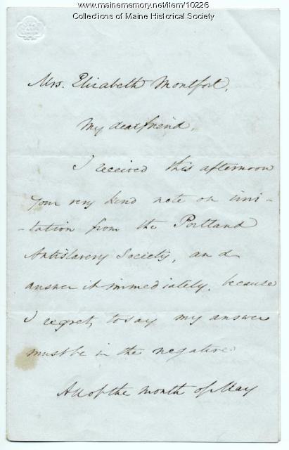 Letter from Wendell Phillips to Elizabeth Mountfort, April 19, 1850