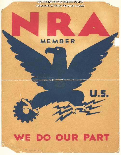 National Recovery Administration poster, ca. 1933