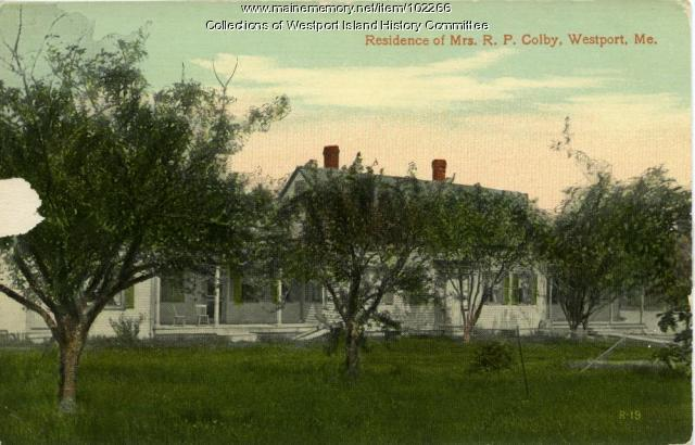 Mrs. R. P. Colby residence, Westport Island, ca. 1908