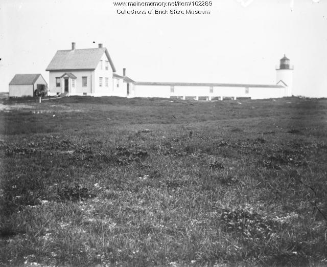 Goat Island Lighthouse, Cape Porpoise, ca. 1900
