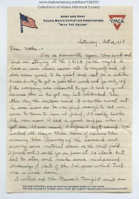 Sumner Cobb writes about the Spanish Flu, Louisville, KY, 1918