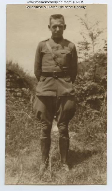 Herbert Cobb in cadet uniform, ca.1917