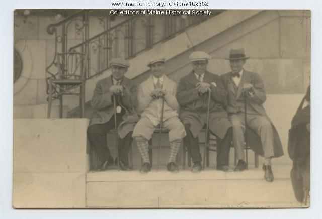 World War I veterans reunited, France, ca. 1927