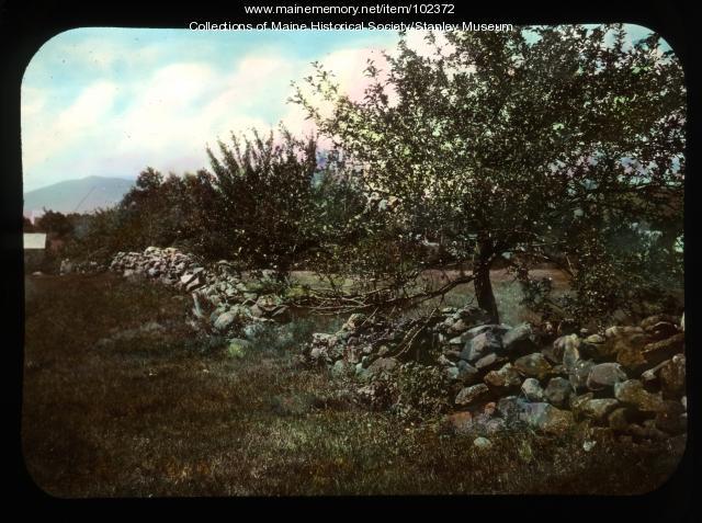 Stone wall, Kingfield, ca. 1910