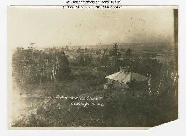 District-Wireless Station, Cushing Island, Maine, ca. 1914