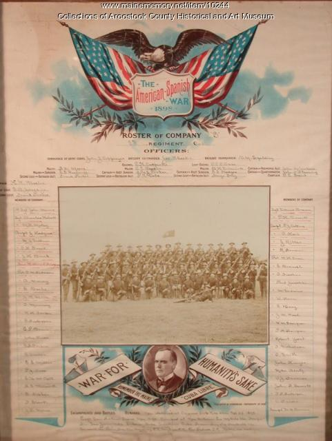 5th Cavalry Regiment, company G roster, 1898