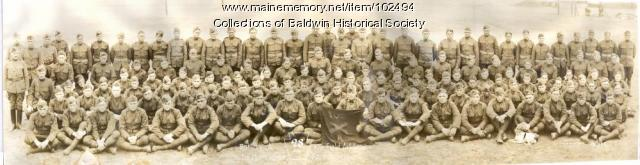 Battery A 109 Field Artillery 28th Division, Le Mans France, 1919
