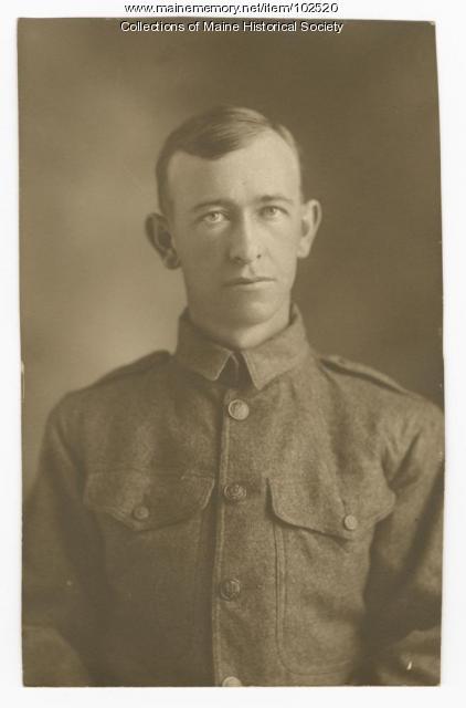 Thomas McPhail portrait in WWI uniform, ca. 1917