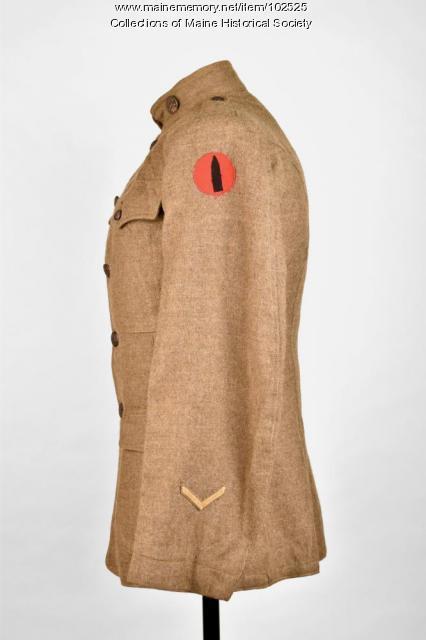 Thomas McPhail's World War I tunic, ca. 1918