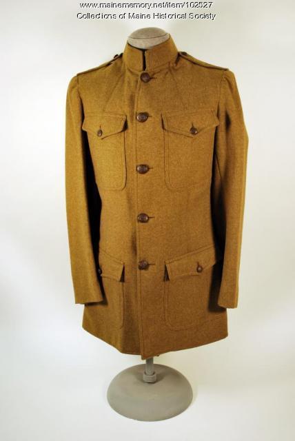 Francis Wilbert Bisbee's cadet training tunic, Orono, ca. 1918