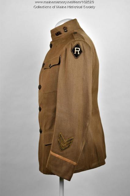 Frank Kittredge's World War I tunic, ca. 1917