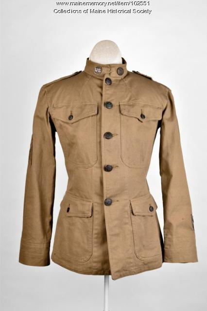 Ralph Flint's World War I tunic, ca. 1918