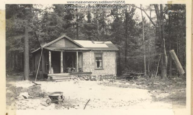 Camp, West Bridgton, ca. 1938