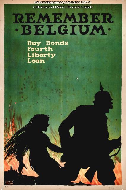 Remember Belgium propaganda poster, ca. 1918