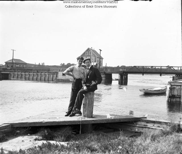 Lower Village to Kennebunkport Bridge, Kennebunkport, ca. 1900