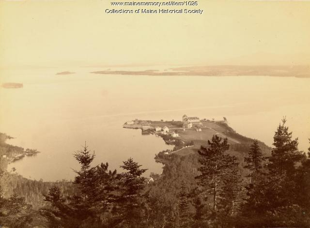Aerial view of Kineo Point, 1888