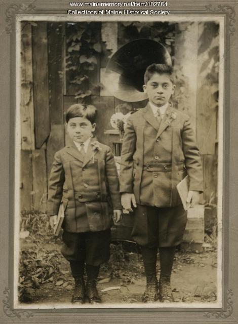 Lavon and Popkins Zakarian, Portland, ca. 1910