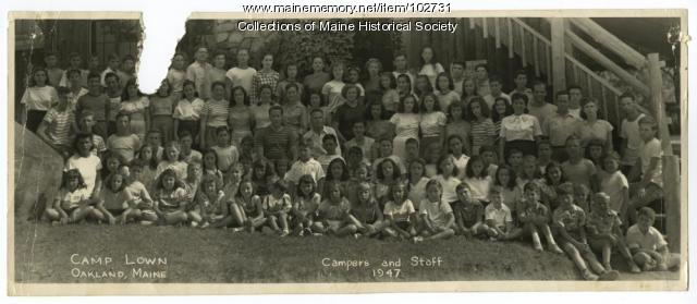 Camp Lown campers and staff, Oakland, 1947