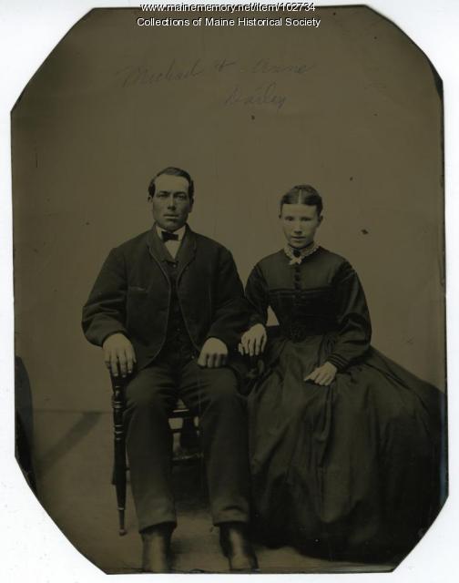Annie Meehan Dailey and Michael Dailey, Portland, ca. 1870