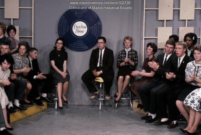 Deering High School students on the set of The Dave Astor Show, Portland, 1962