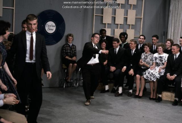 Deering High School student dancing on set of The Dave Astor Show, Portland, 1962